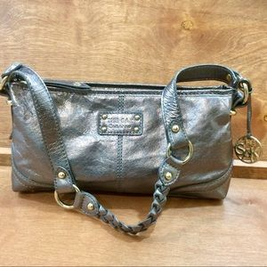 The Sak Silver Shoulder Bag